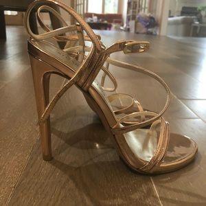 Stuart Weitzman Rose Gold Formal Shoes